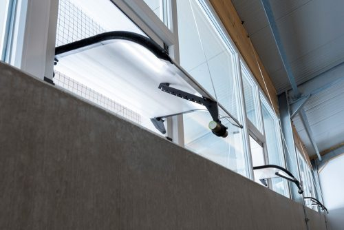 daylight and air inlet system