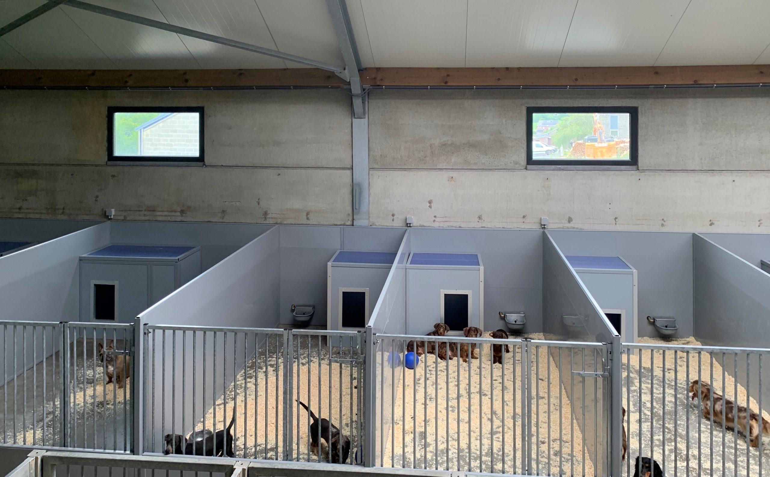 Bouw hondenresort met Bouwplast kunststof panelen